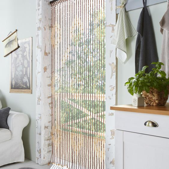 locker Türvorhang Sevilla, mit Kreisdekor, 90x200 cm 200 cm, Hakenaufhängung, 90 bunt Wohnzimmergardinen Gardinen nach Räumen Vorhänge