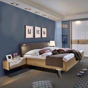 Loddenkemper Schlafzimmer-Set, Weiß, Glas