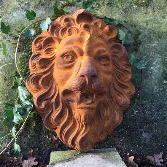 Löwenkopf für Wandbrunnen Speier Löwe Brunnen Dekoration, Wasserspeier wie antik