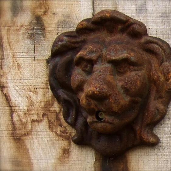 Löwenkopf Wasser Auslauf für Wandbrunnen - Brunnen - Dekoration Wand Speier