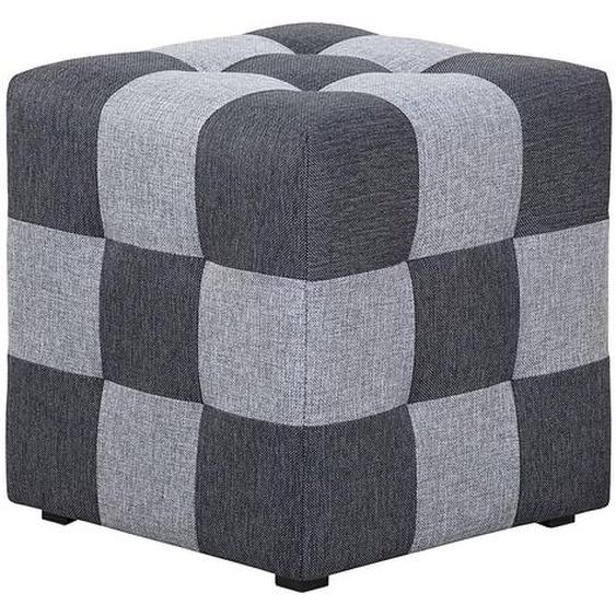 loftscape Hocker Chess Hellgrau/Dunkelgrau Webstoff 45x45x45 cm (BxHxT) Modern