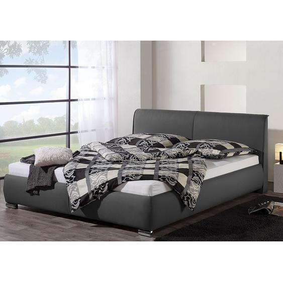 loftscape Polsterbett Sigtuna 200x200 cm Strukturstoff Anthrazit mit Bettkasten Modern