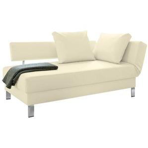 loftscape Recamiere Athmos Beige Kunstleder 186x87x92 cm (BxHxT) mit Schlaffunktion/Bettkasten Modern