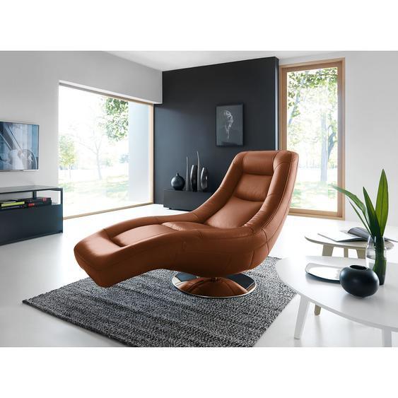 loftscape Relaxliege Colima Rehbraun Echtleder mit Relaxfunktion 88x103x156 cm (BxHxT)