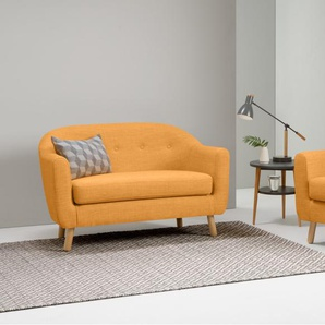 Lottie 2-Sitzer Sofa, Honiggelb
