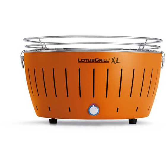 LotusGrill Holzkohlegrill, Orange, Stahl XL (Extra Large)