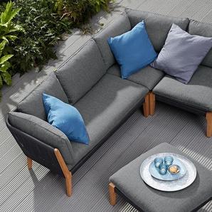Lounge-Möbel-Ecke - schwarz -