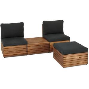 Lounge-Möbel-Element - schwarz -
