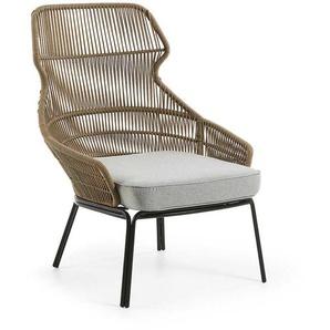 Lounge Sessel aus Kordelgeflecht Sitzpolster