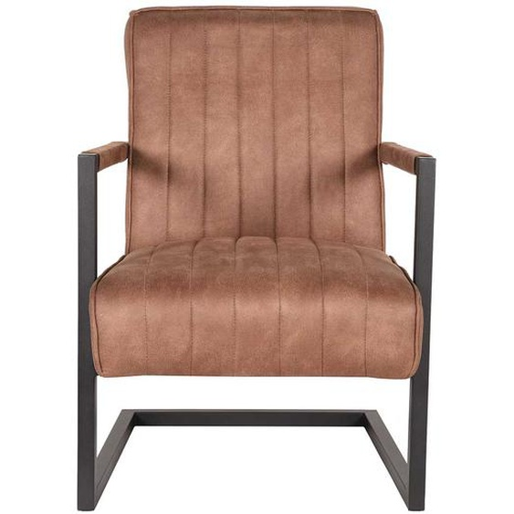 Lounge Sessel in Braun Microfaser Wippfunktion