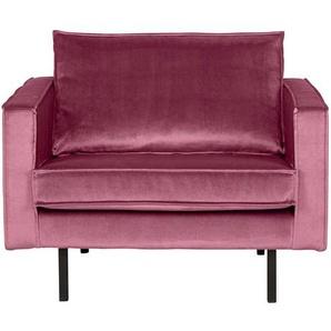 Lounge Sessel in Pink Samtbezug