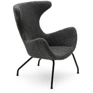 Lounge Sessel Peco grau, 96x77x78 cm