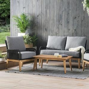 Gartenmöbel Set Akazienholz grau MERANO