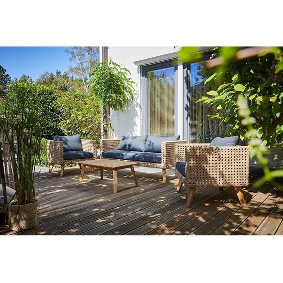 Lounge-Set Junee 4-teilig Polyrattan Natur