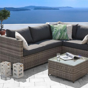 Lounge Set Rattan grau AVOLA