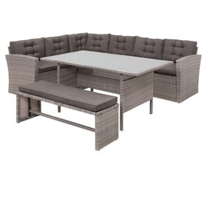 Lounge Set Rattan grau VITERBO