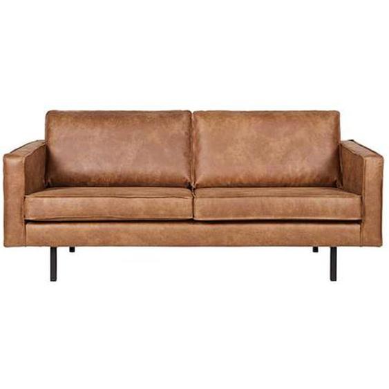 Lounge Sofa in Cognac Braun recycling Leder