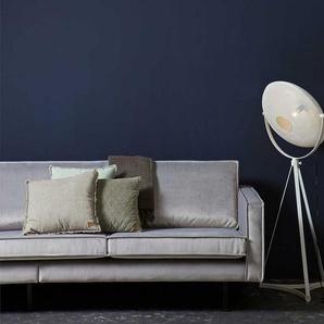 Lounge Sofa in Hellgrau Stoff