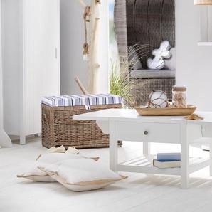 Lounge-Strandkorb - grau -