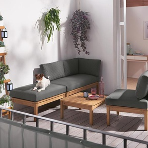 Loungemöbel-Einzelsessel - grau -