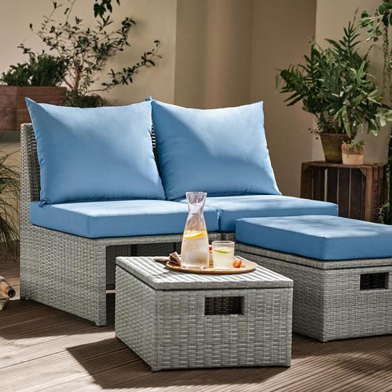 Loungemöbel-Set - blau -
