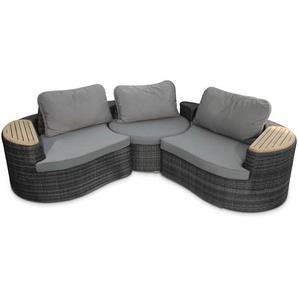 Loungemöbel Set ,grau ,Rattan & Geflecht