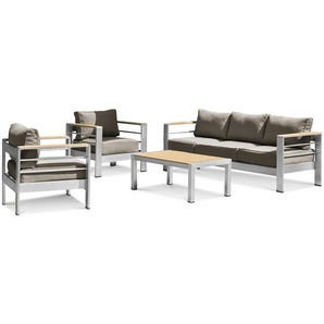 Loungemöbel Set, Grün, Aluminium