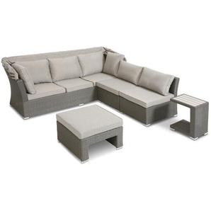 Loungemöbel Set ,grau ,Polyrattan