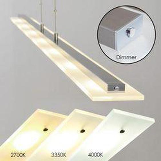 Lourdes Pendelleuchte LED Nickel-Matt, Chrom, 7-flammig - Modern - Innenbereich - versandfertig innerhalb von 2-4 Werktagen