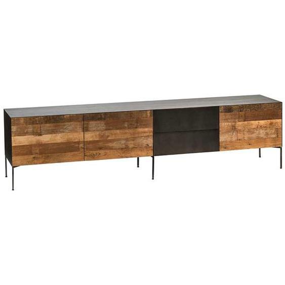 Lowboard aus Teak Recyclingholz Loft Style