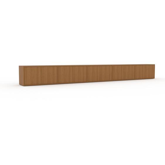 Lowboard Eiche - Designer-TV-Board: Türen in Eiche - Hochwertige Materialien - 375 x 41 x 35 cm, Komplett anpassbar