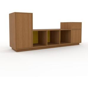 Lowboard Eiche - TV-Board: Schubladen in Eiche & Türen in Eiche - Hochwertige Materialien - 195 x 85 x 47 cm, Komplett anpassbar