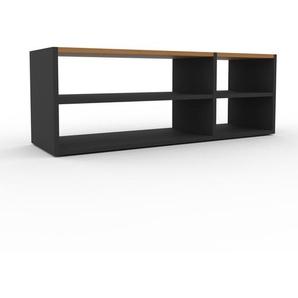 Lowboard Anthrazit - Designer-TV-Board: Hochwertige Qualität, einzigartiges Design - 116 x 41 x 35 cm, Komplett anpassbar