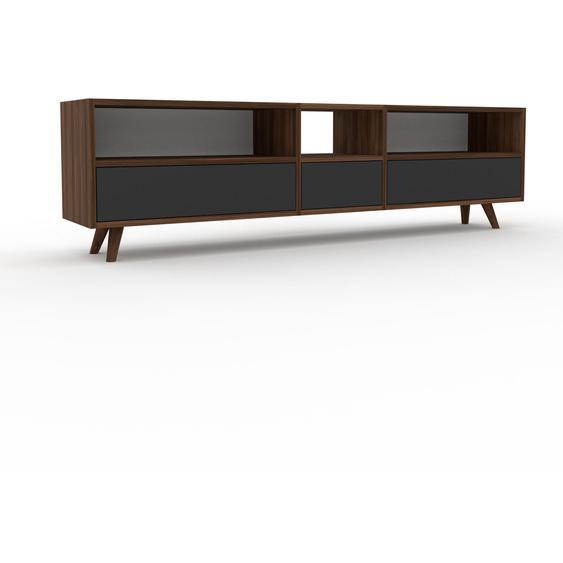 Lowboard Graphitgrau - Designer-TV-Board: Schubladen in Graphitgrau - Hochwertige Materialien - 190 x 53 x 35 cm, Komplett anpassbar