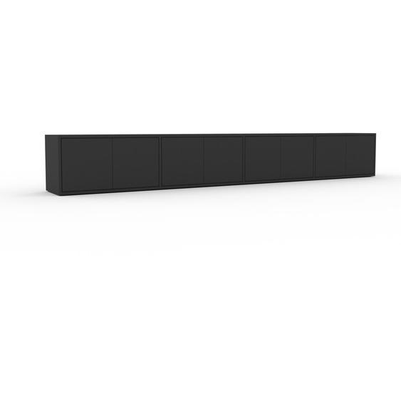 Lowboard Graphitgrau - Designer-TV-Board: Türen in Graphitgrau - Hochwertige Materialien - 301 x 41 x 35 cm, Komplett anpassbar