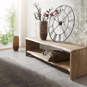 Wohnlandschaft Clovis XXL Weiss Schwarz Ottomane Links, Design Wohnlandschaften, Couch Loft, Modulsofa, modular