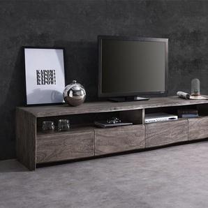 Hussensofa Sharona 234x117 cm Braun mit Kissen, Big Sofas