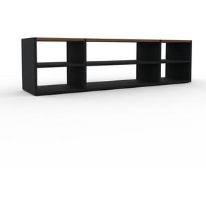 Lowboard Schwarz - Designer-TV-Board: Hochwertige Qualität, einzigartiges Design - 154 x 41 x 35 cm, Komplett anpassbar