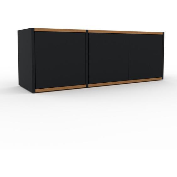 Lowboard Schwarz - Designer-TV-Board: Türen in Schwarz - Hochwertige Materialien - 116 x 41 x 35 cm, Komplett anpassbar