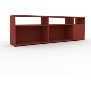 Lowboard Rot - Designer-TV-Board: Türen in Rot - Hochwertige Materialien - 190 x 62 x 35 cm, Komplett anpassbar