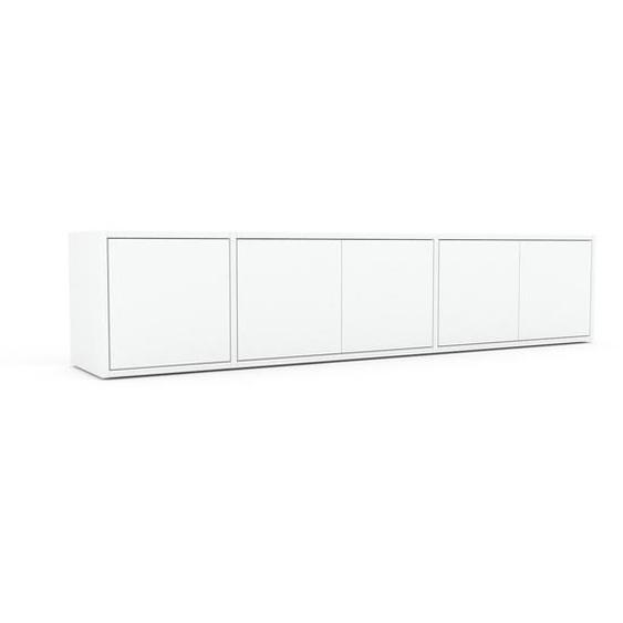 Lowboard Weiß - Designer-TV-Board: Türen in Weiß - Hochwertige Materialien - 190 x 41 x 35 cm, Komplett anpassbar