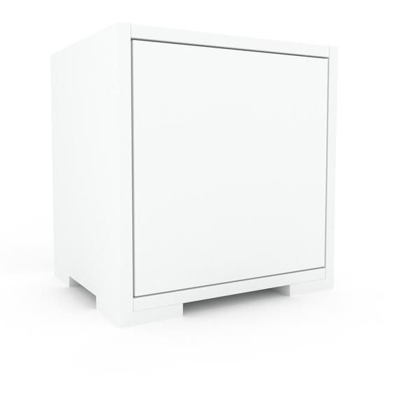 Lowboard Weiß - Designer-TV-Board: Türen in Weiß - Hochwertige Materialien - 41 x 43 x 35 cm, Komplett anpassbar