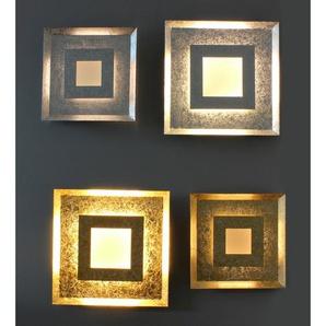 Luce Design LED-Wandleuchte Window Gold 39 cm x 39 cm EEK: A+
