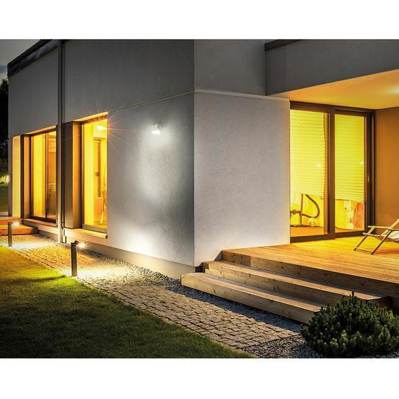Luceco LED-Solar Wandlaterne mit Bewegungsmelder Grau