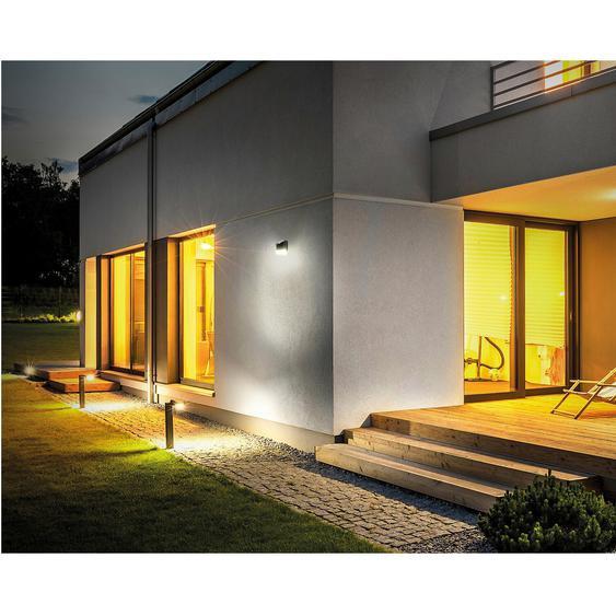 Luceco LED-Solar Wandlaterne mit Bewegungsmelder Schwarz