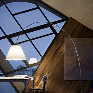 Luceplan Stehleuchte Lady Costanza weiß, Designer Paolo Rizzatto, 250x36x36 cm