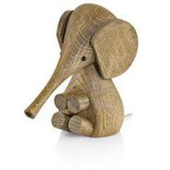 Lucie Kaas - Gunnar Flørning Baby Elefant Holzfigur, H 11 cm / Eiche geräuchert