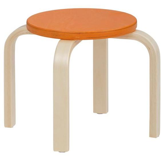 Lüttenhütt 4-Fußstuhl Tipa, in verschiedenen Größen und Höhen, aus Birkenschichtholz, Hocker für Kinder Maße(B/T/H): 38/38/27 cm. beige Kinderstühle Kindermöbel Stühle