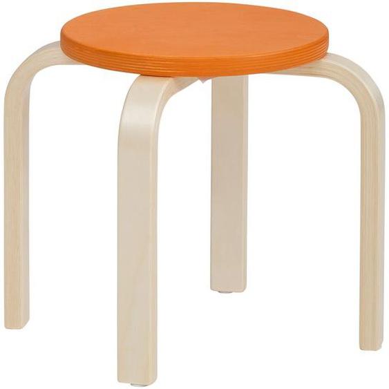 Lüttenhütt 4-Fußstuhl Tipa, in verschiedenen Größen und Höhen, aus Birkenschichtholz, Hocker für Kinder Maße(B/T/H):38/38/31 cm. beige Kinderstühle Kindermöbel Stühle