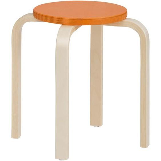 Lüttenhütt 4-Fußstuhl Tipa, in verschiedenen Größen und Höhen, aus Birkenschichtholz, Hocker für Kinder Maße(B/T/H):38/38/38 cm. beige Kinderstühle Kindermöbel Stühle